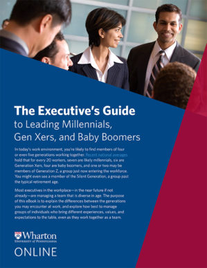 eBook cover for The Executive's Guide to Leading Millennials…