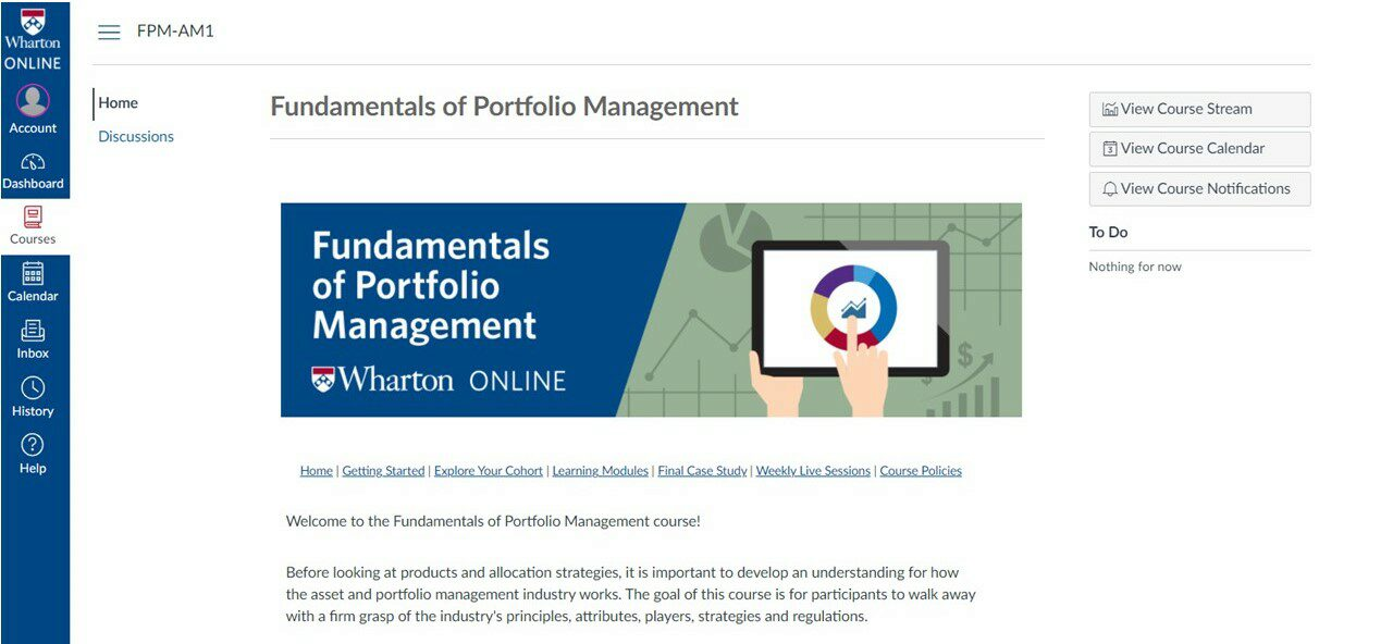 harton Online asset and portfolio management certificate program welcome