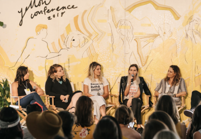 Panel of women at the Yellow Conference